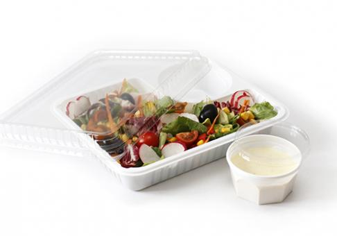 Salatschale mit Dressingfach